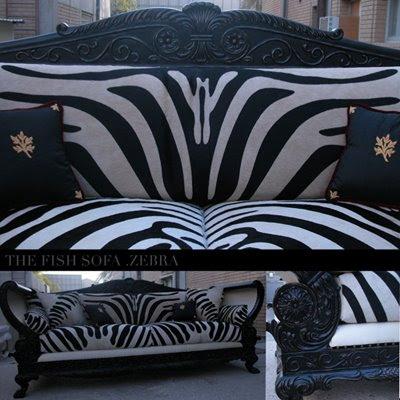 Z Design Twisted Zebra Sofa