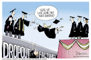 It's because of the kids dropping out of school at very young age. when they . (high school dropouts)
