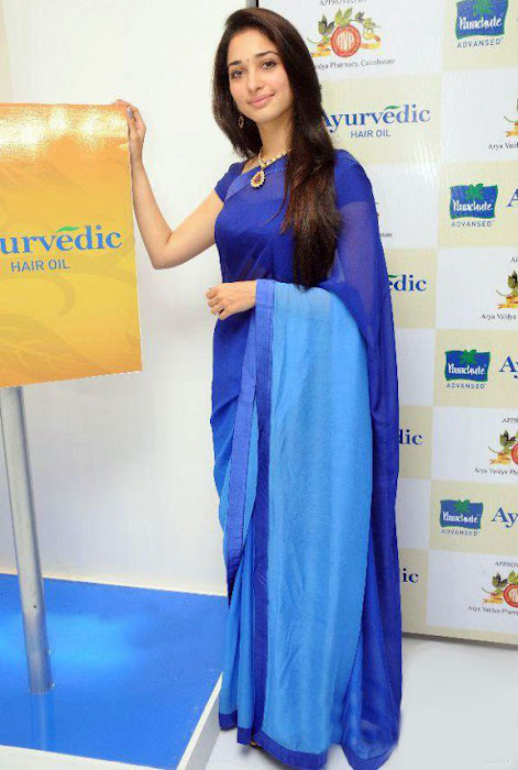tammanah in blue at parshute ad campaign latest photos
