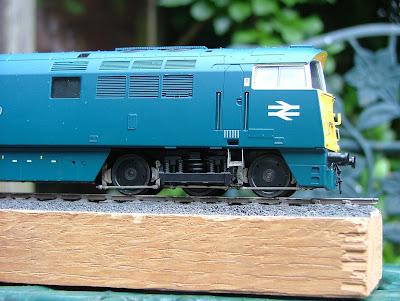 Heljan Class 52 Western with new etched brakegear.