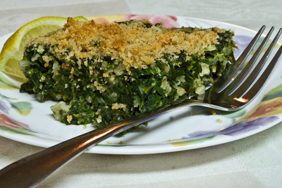 Round the Chuckbox: Spinach and rice gratin