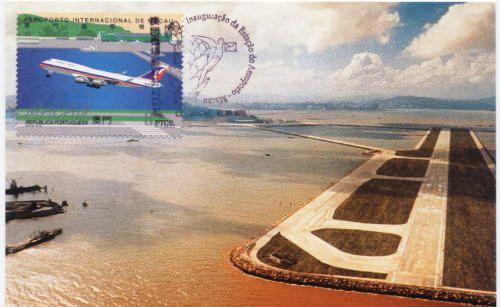 Aeroporto Internacional De Macau : Macau antigo postais aeroporto internacional de