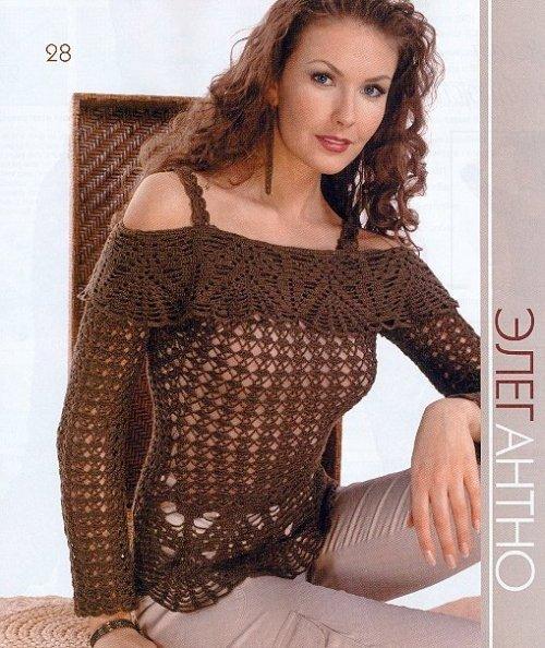 Esquemas de blusas en crochet - Imagui