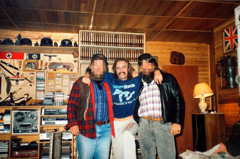 Bandidos Wayne Kellestine in his home with nazi memorabilia