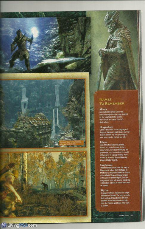 skyrim wallpaper hd. Skyrim Scans Game Informer