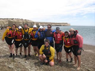 Expedicion en kayak por el Golfo San José. Peninsula Valdes