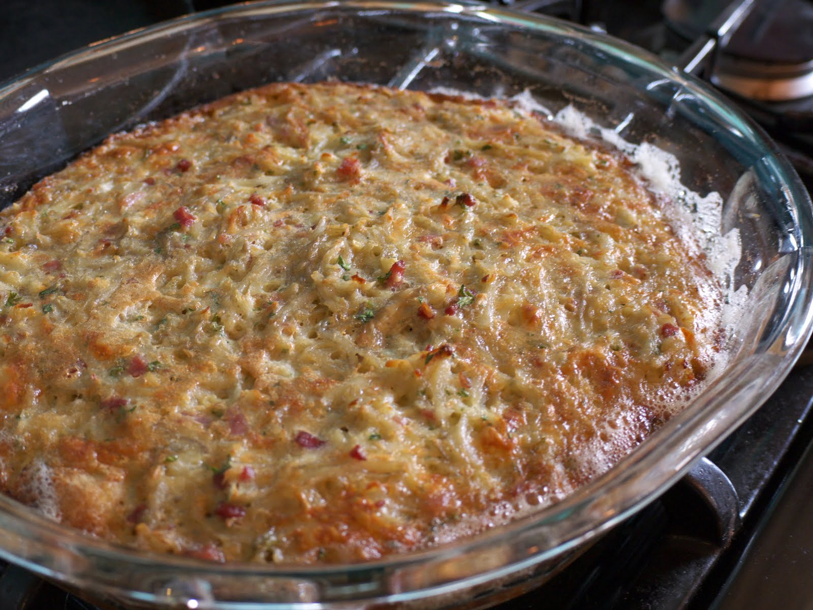 ... Morvandelle [Gratin of Shredded Potatoes with Ham and Eggs and Onions