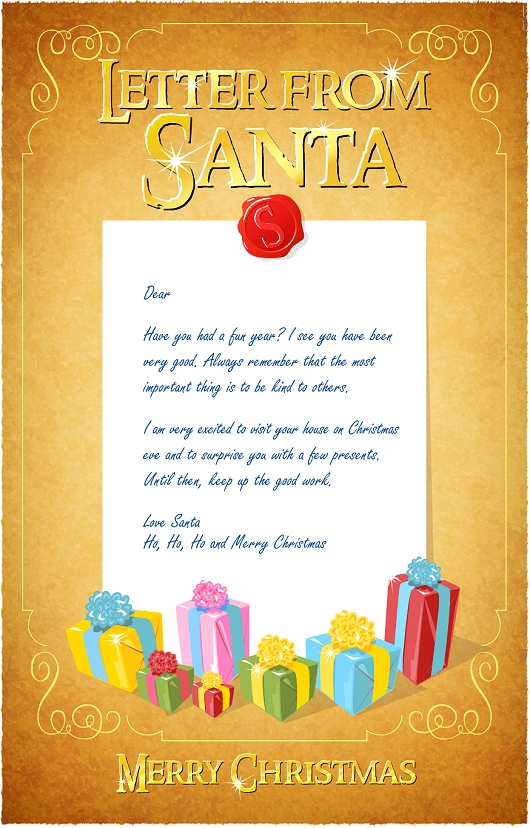 Stupendous image in letter from santa template printable