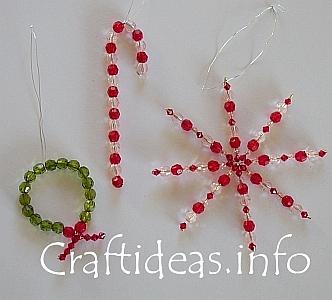 Christmas Craft Ideas  Kids on Beaded Christmas Ornaments From Craft Ideas