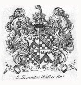 Escudo de Armas de Sr Hovenden Walker Knt