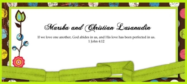 Marsha and Christian Lasanudin