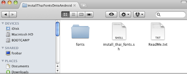 Installing Thai fonts onto an Android device