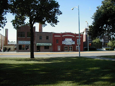 A view from the court house toward the Rivoli Theater on the town square of Seward, Nebraska. The photo was taken from http://www.stipak.com/hageman/williambrown/IMG/SewardPhotosAugust2001/SewardTownSquareSouth2.jpg