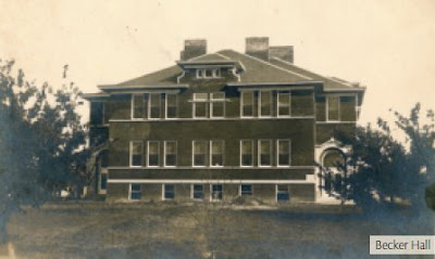 Becker Hall on the campus of Concordia College (Concordia University). The image is from The Broadcaster magazine, http://www.cune.edu/resources/docs/Broadcaster/Broadcaster_Spring_2008.pdf