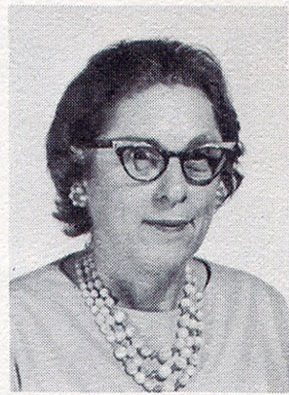 Irene Pfeiffer, third-grade teacher at St John Elementary School in Seward, Nebraska. The image was scanned from the 1965-1966 school yearbook.