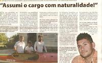 Imagem de artigo de jornal, com entrevista a Ivo Quendera