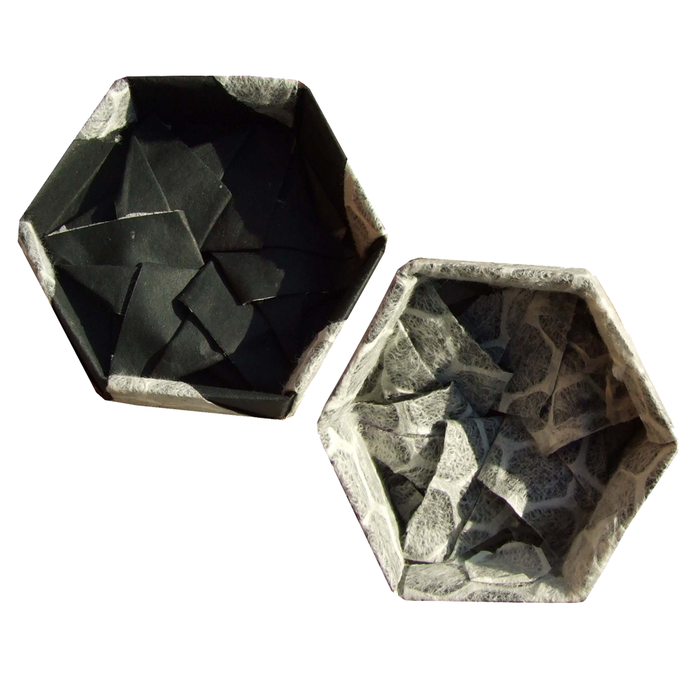 Tomoko Fuse Hexagon Box Instructions : Origami constructions hexagonal box and lid by tomoko