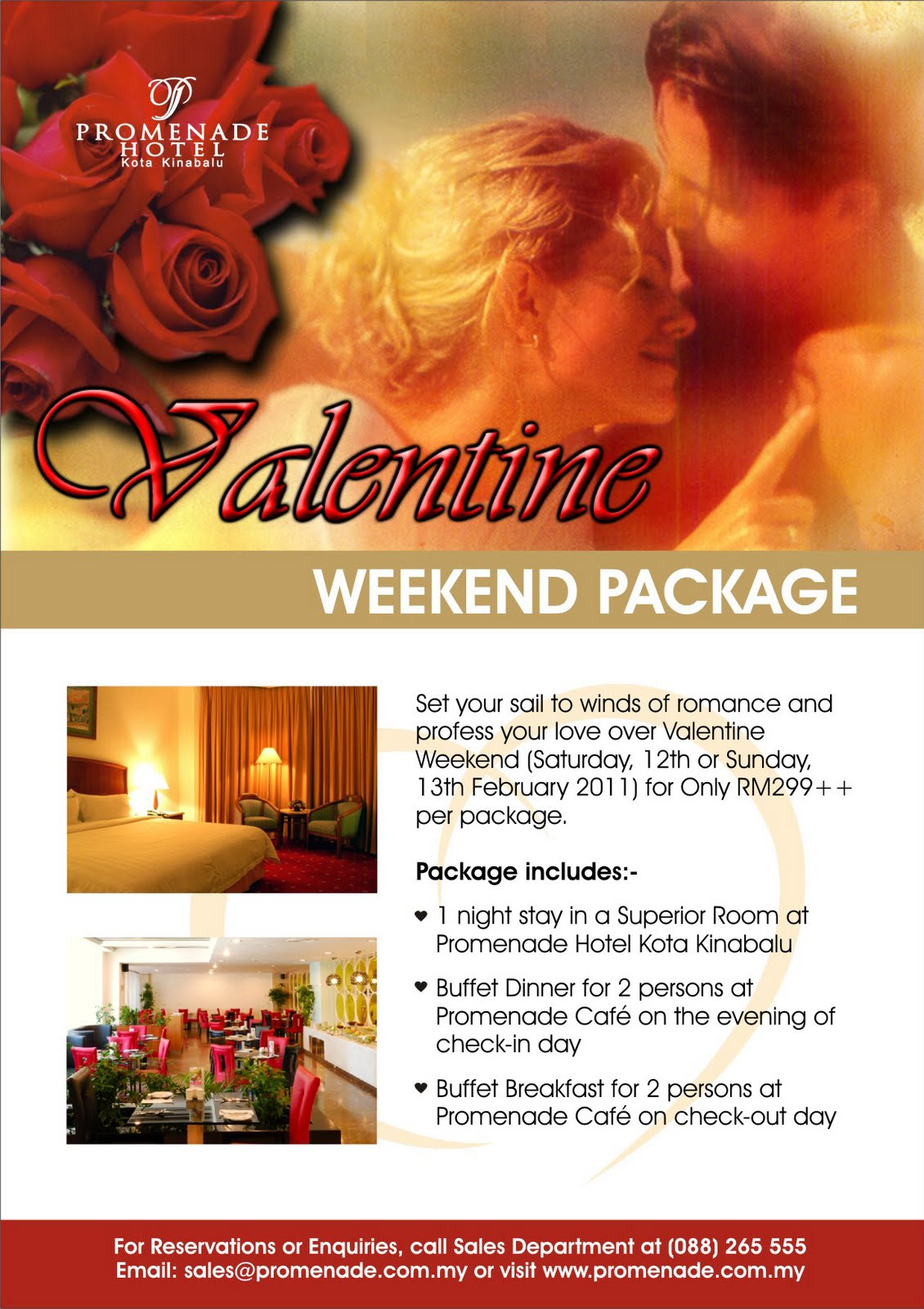 valentines day at promenade hotel - Valentine Day Hotel Specials