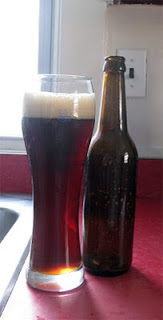 Big Glass of Homebrewed Weizenbock