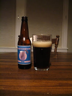 Bottle of Homebrewed Brown Ale