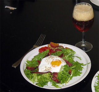 Bacon Frizee Salad with a Poached Egg