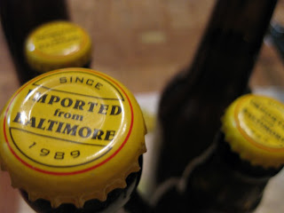 Artsy shot of Imported From Baltimore caps... no I don't really get it either.