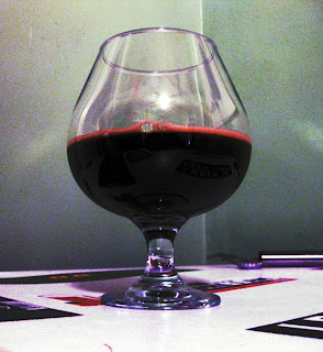 Bourbon Oak Triplebock Tasting - Sorry for the crazy picture, but for some reason I really like the look.
