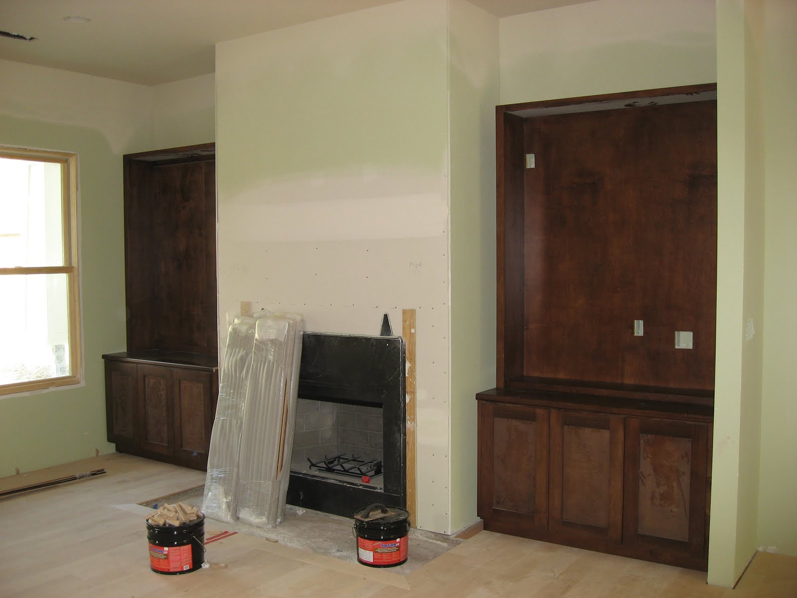 green house good life construction recap the fireplace and