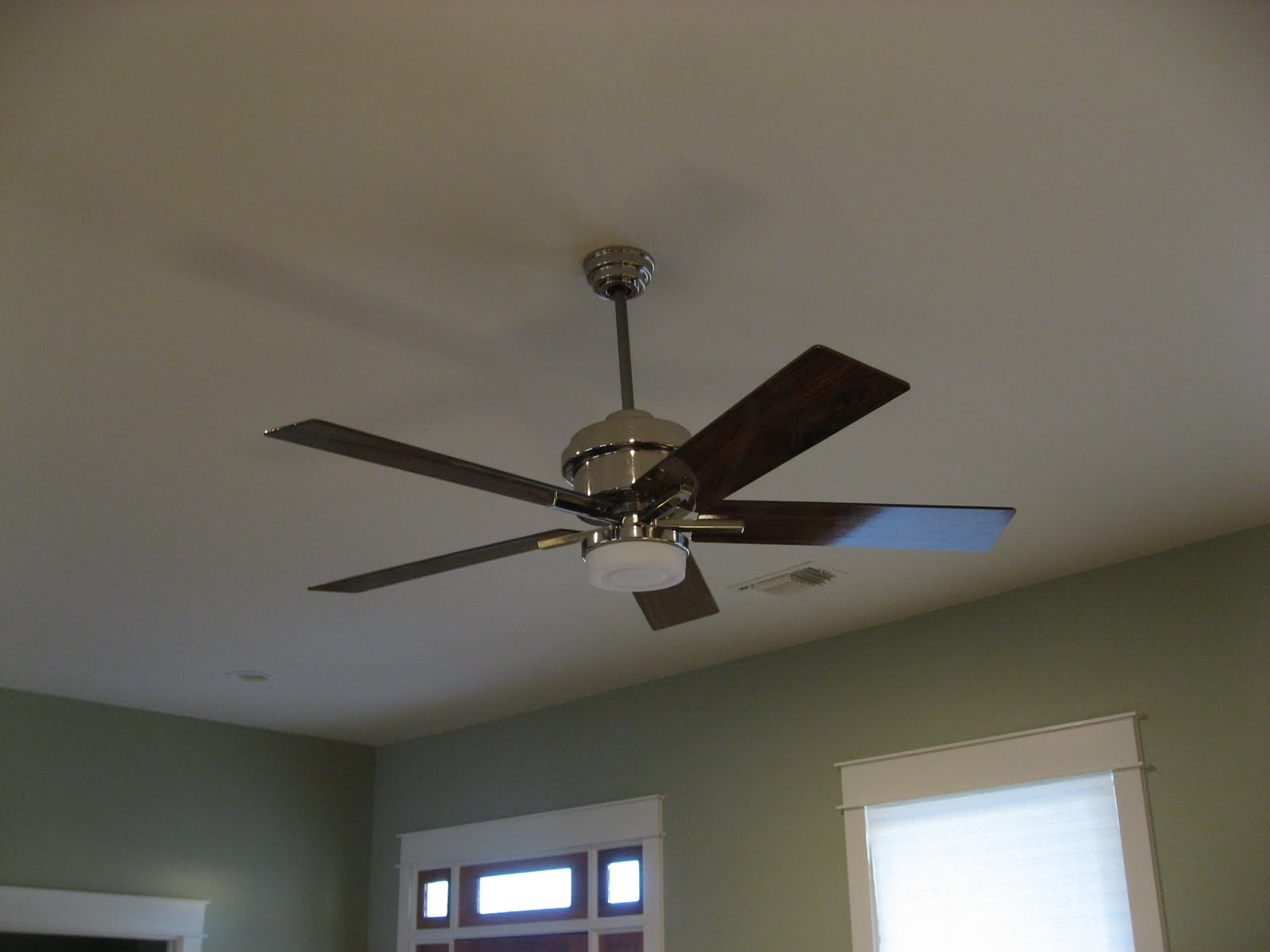 Green house good life why are ceiling fans always so ugly and then choosing fans like he chooses work pants all khaki all the time he picked the same one for the master bedroom publicscrutiny Choice Image