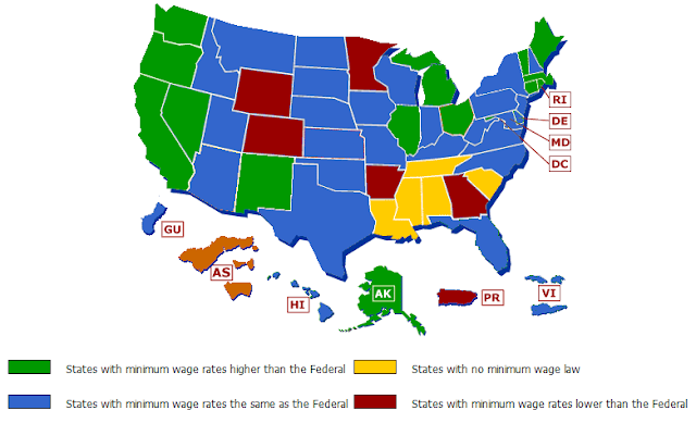 2010 and 2011 Federal Minimum Wage Rates