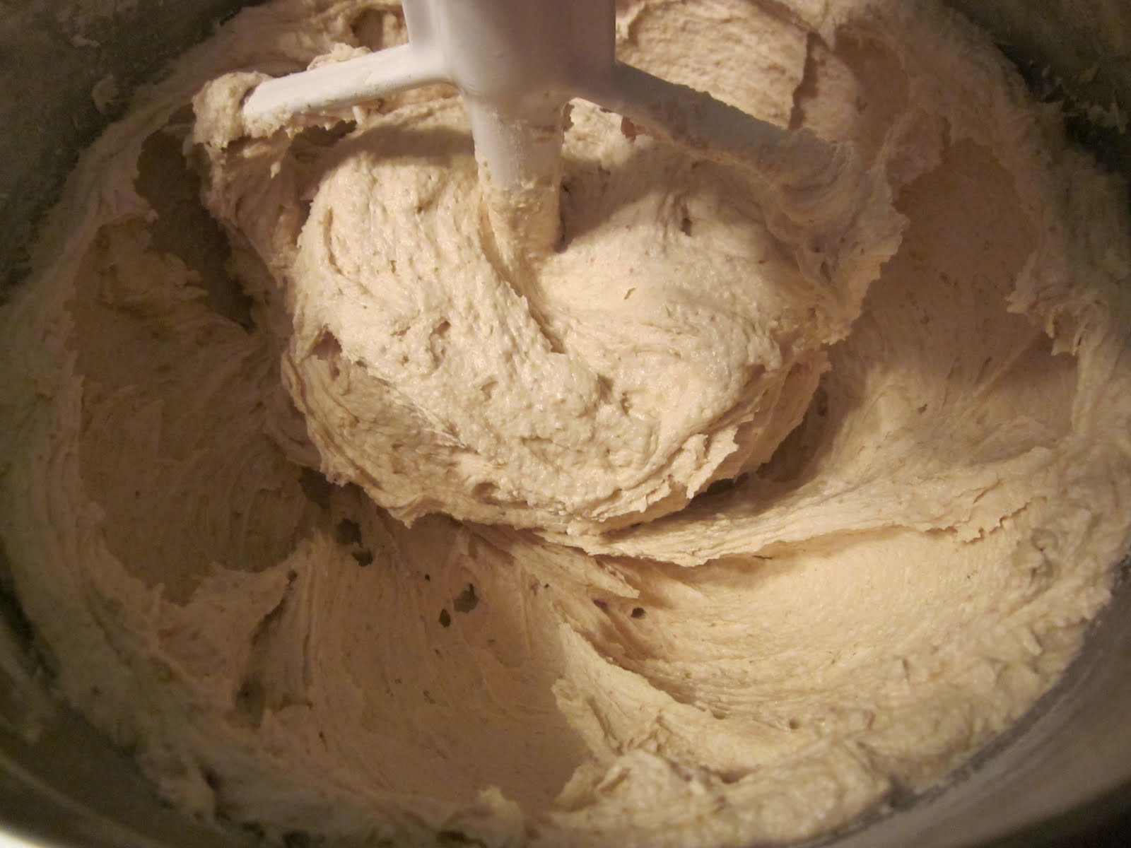 Stir up the flour in the bag or whatever container you have it in and  #9B6830
