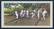 """Bocce Ball"" Painting from old photograph. A true italian story becomes a work of art"