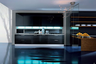 This Kitchen Is Certainly More Modern, Though What It May Lack In Coziness,  It Makes Up For In Design. Its Lighting Fixtures Are Tentacular And Its  Black ...