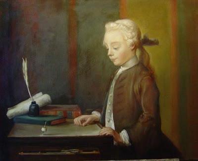 enfant à la toupie de Chardin