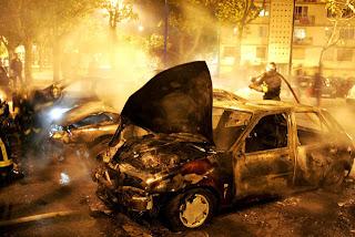voitures en feu