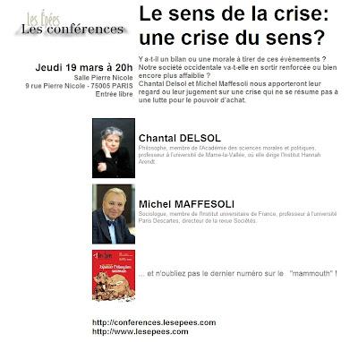 affiche conférence des Epées du 19 mars