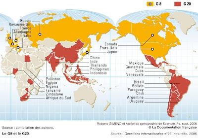 carte G8 et G20