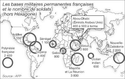 cartes des bases françaises