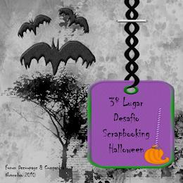 3º Lugar Desafio de Scrap - Halloween