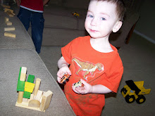 michael playing with blocks