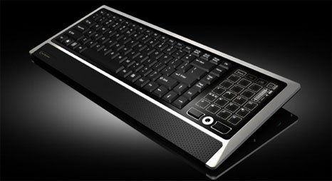 eclipse litetouch keyboard 1 Eclipse LiteTouch Wireless Keyboard: Keyboard multifunction with screen LCD touch sensitif