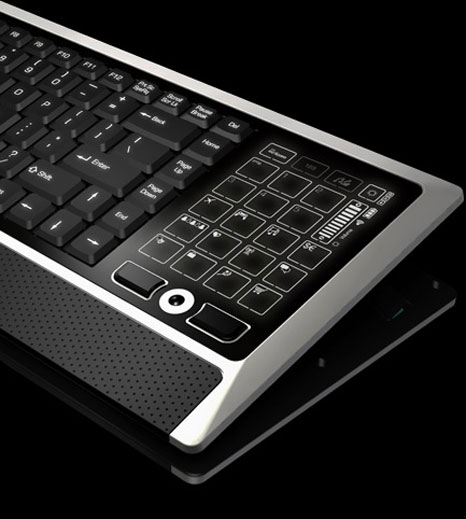 eclipse litetouch keyboard 3 Eclipse LiteTouch Wireless Keyboard: Keyboard multifunction with screen LCD touch sensitif