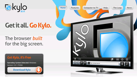 kylo tv browser 4 Kylo: The worlds first browser designed specifically for HDTV or big screen