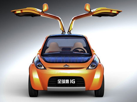 geely butterfly Geely IG: eco friendly car design with winged doors
