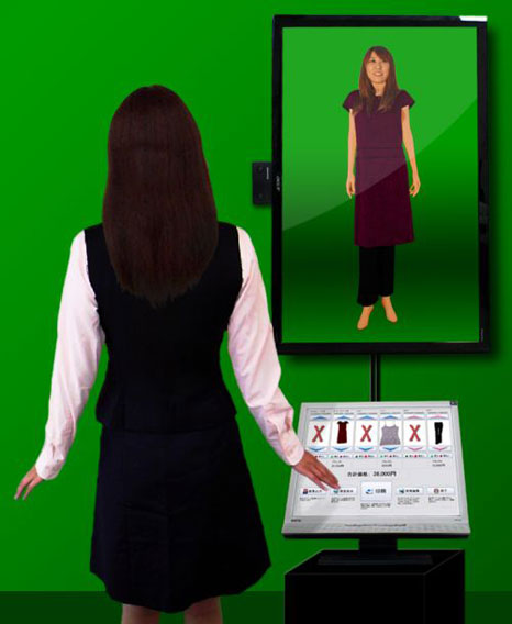 virtual fitting room Augmented Reality technology to better treat customers