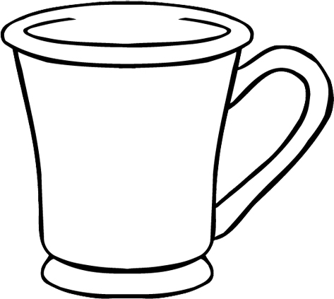 tea cup free coloring pages. Black Bedroom Furniture Sets. Home Design Ideas