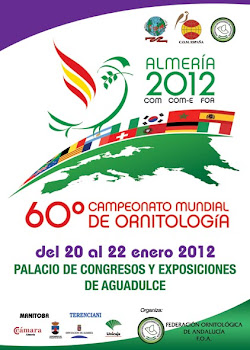 60CAMPEONATO MUNDIAL ORNITOLOGIA  DE ESPANHA - ALMERIA 2012
