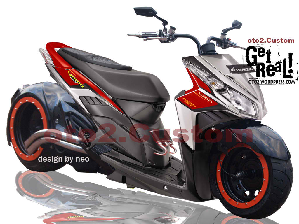 modifikasi mobil motor: Modifikasi Honda Vario on honda beat modifikasi warna motor, honda beat modified, honda beat off-road, honda beat modification, honda beat race, honda beat pop,