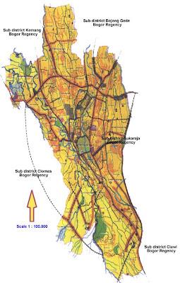 Gambar Peta Wilayah Bogor Terbaru