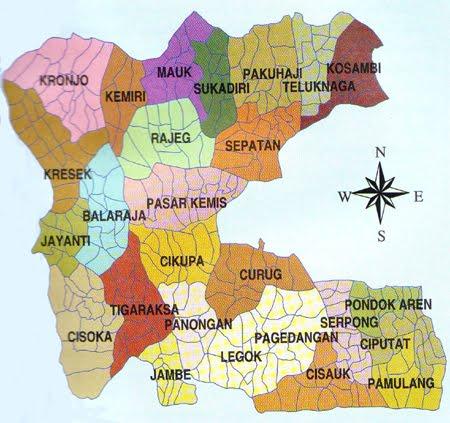 Tangerang Indonesia Map